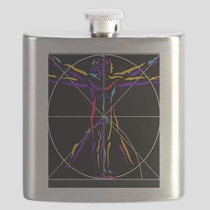 Vitruvian man da vinci drawing Flask