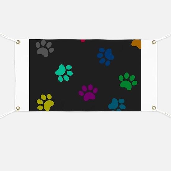 Paw prints Banner