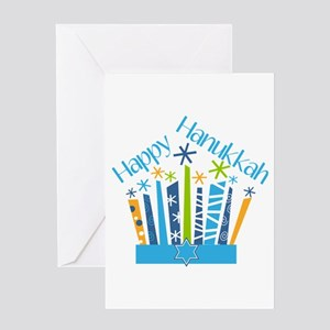 Jewish holiday greeting cards cafepress happy hanukkah candles greeting cards m4hsunfo