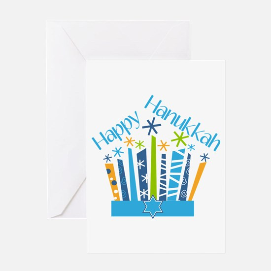 Happy Hanukkah Candles Greeting Cards