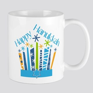 Happy Hanukkah Candles Mugs