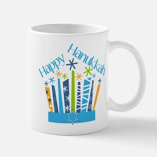 Happy Hanukkah Candles Mugs