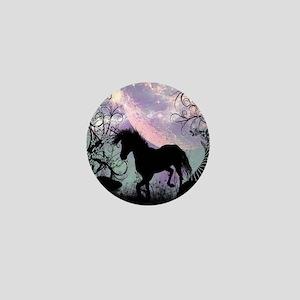 Wonderful unicorn in the sunset Mini Button
