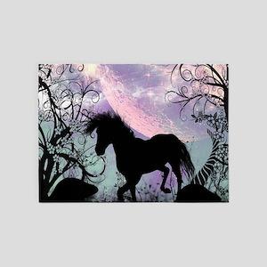 Wonderful unicorn in the sunset 5'x7'Area Rug