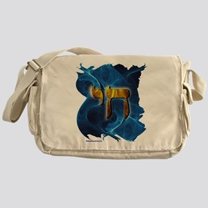 Gold & Blue Cosmic Chai Messenger Bag