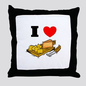 Cheese and Crackers  Throw Pillow