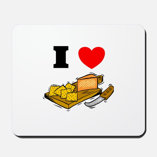 Cheese and Crackers  Mousepad