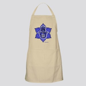Blue Paisley Hamsa Hand Symbol Apron