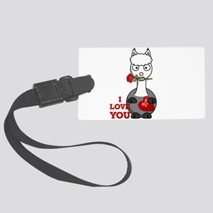 i love you alpaca Large Luggage Tag