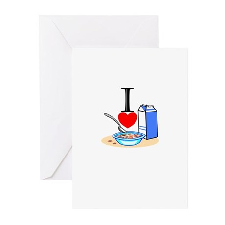 I Love Cereal Greeting Cards (Pk of 20)
