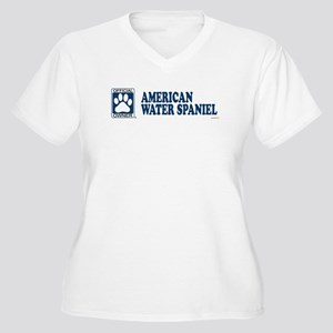 AMERICAN WATER SPANIEL Womes Plus-Size V-Neck T-Sh