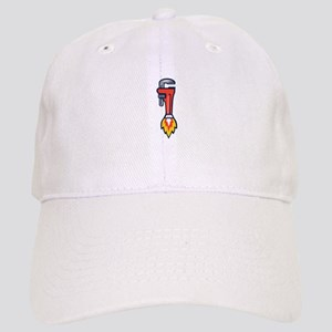 Pipe Wrench Rocket Booster Side Retro Baseball Cap