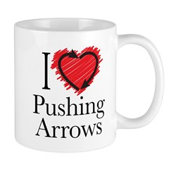 I Love Pushing Arrows Mugs