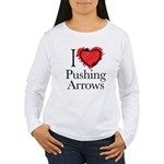 I Love Pushing Arrows Long Sleeve T-Shirt