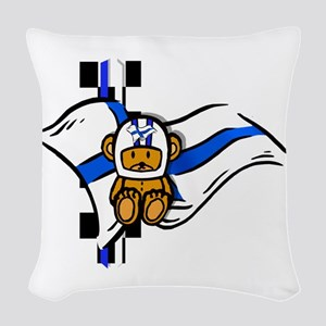 Finnish Racing Woven Throw Pillow