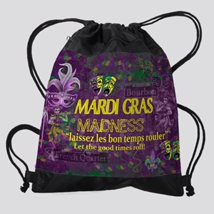 Mardi Gras Madness Bourbon French Q Drawstring Bag