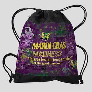 Mardi Gras Madness Bourbon French Q Drawstring Bag