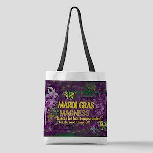 Mardi Gras Madness Bourbon Fren Polyester Tote Bag