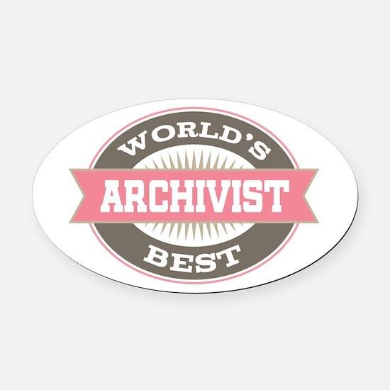 archivist Oval Car Magnet