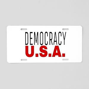 DEMOCRACY U.S.A. Aluminum License Plate