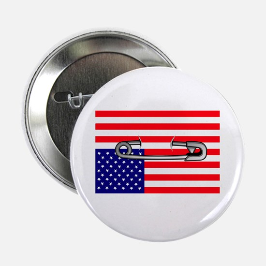 "Flag safety pin 2.25"" Button"