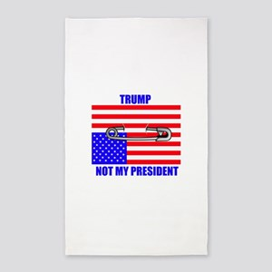 NOT MY PRESIDENT Area Rug