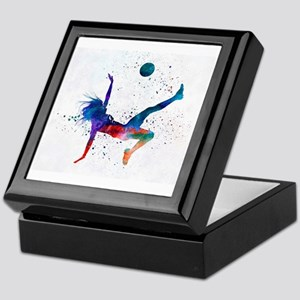 Neon Football 6 Keepsake Box