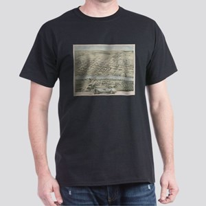 Vintage Pictorial Map of Waco Texas (1873) T-Shirt