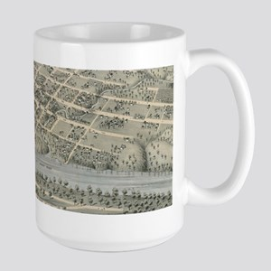 Vintage Pictorial Map of Waco Texas (1873) Mugs