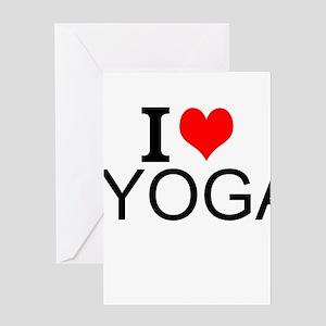I Love Yoga Greeting Cards