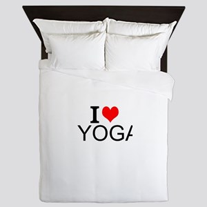 I Love Yoga Queen Duvet