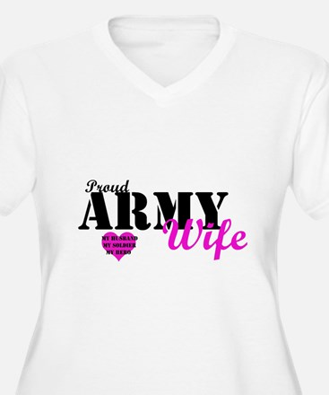 Army wife Pink Plus Size T-Shirt