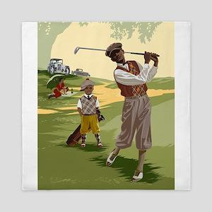 Golf Game Queen Duvet