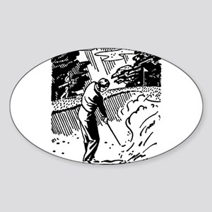 golf bunker Sticker