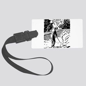 golf bunker Large Luggage Tag