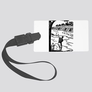 golf shot Large Luggage Tag
