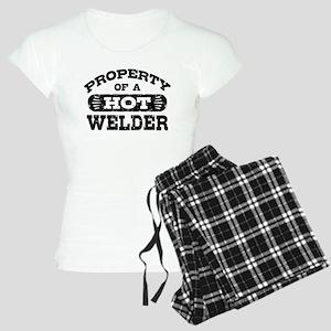 Property Of A Hot Welder Women's Light Pajamas