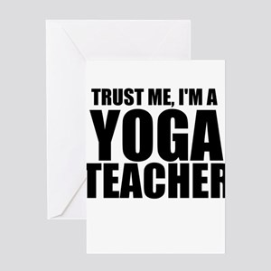 Trust Me, I'm A Yoga Teacher Greeting Cards