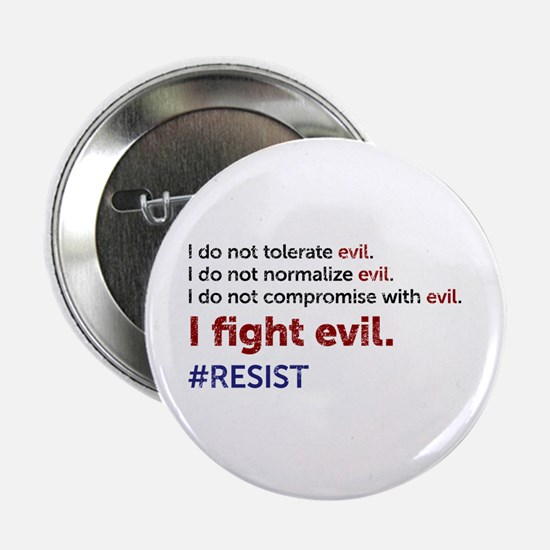 """I Fight Evil 2.25"""" Button"""