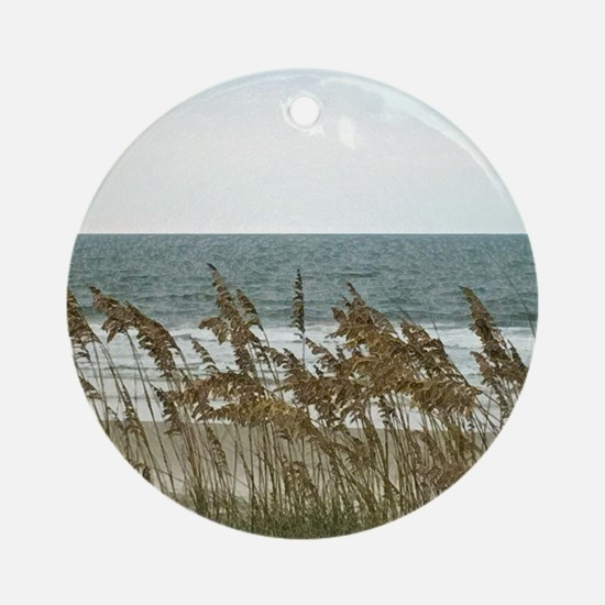 Dunes at the Beach with Sea Oats Round Ornament