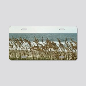 Dunes at the Beach with Sea Oats Aluminum License