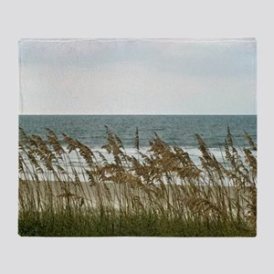 Dunes at the Beach with Sea Oats Throw Blanket