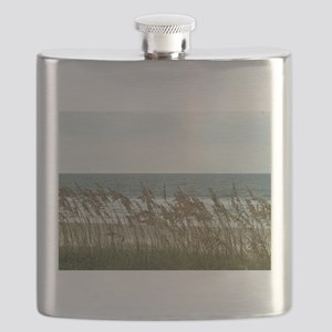 Dunes at the Beach with Sea Oats Flask
