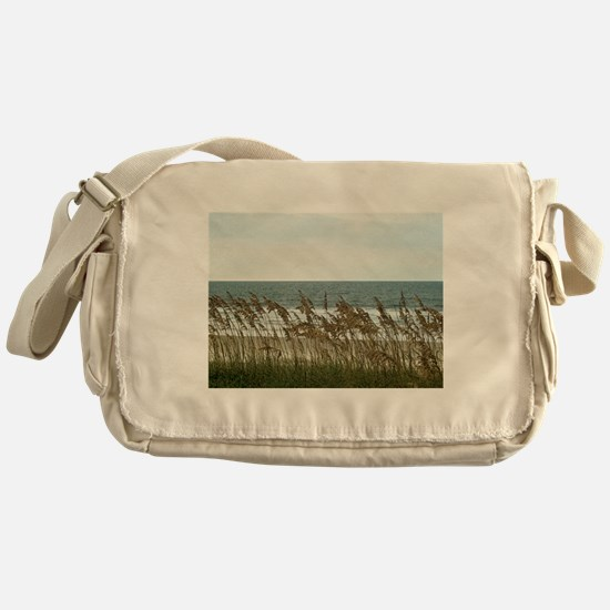 Dunes at the Beach with Sea Oats Messenger Bag