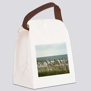 Dunes at the Beach with Sea Oats Canvas Lunch Bag