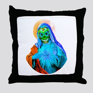 La Santa Muerte Throw Pillow