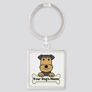 Personalized Airedale Square Keychain