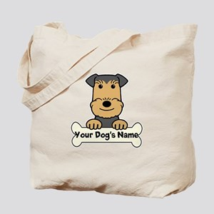 Personalized Airedale Tote Bag