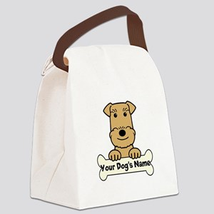 Personalized Airedale Canvas Lunch Bag