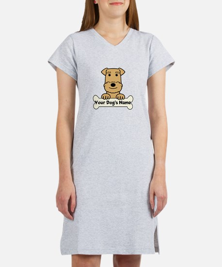Personalized Airedale Women's Nightshirt